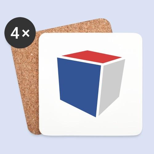 Cube Minimaliste - Dessous de verre (lot de 4)