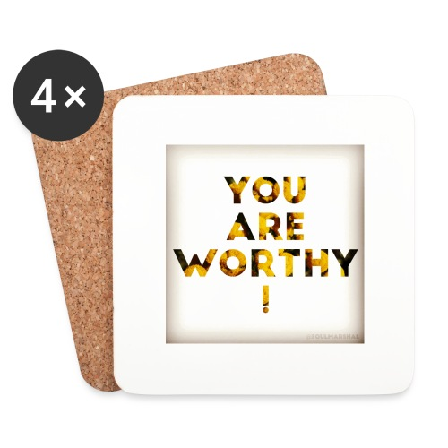 You Are Worthy - Lasinalustat (4 kpl:n setti)