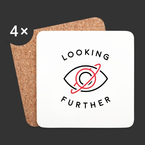 Looking Farther - White - Coasters (set of 4)
