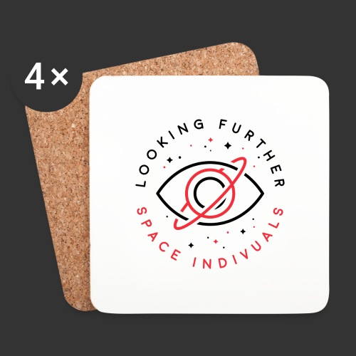 Space Individuals - Looking Further White - Coasters (set of 4)