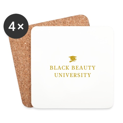 BLACK BEAUTY UNIVERSITY LOGO GOLD - Dessous de verre (lot de 4)