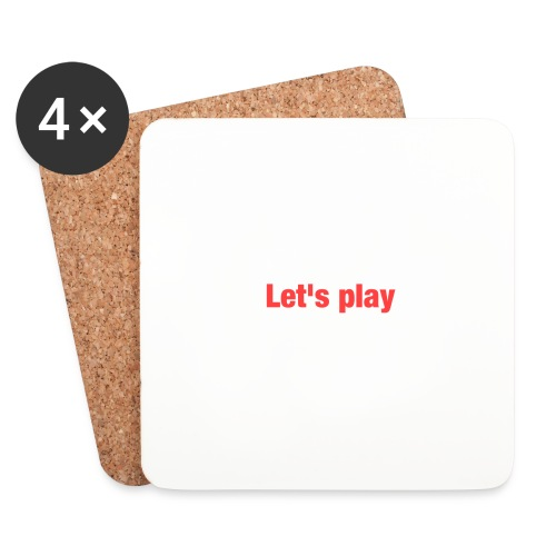 Let's play - Coasters (set of 4)