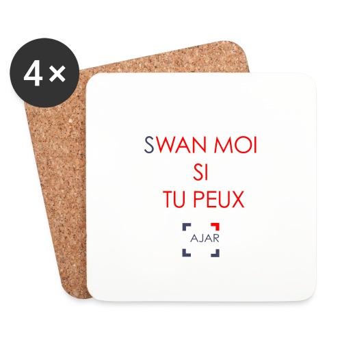 Swan moi - Rouge - Dessous de verre (lot de 4)