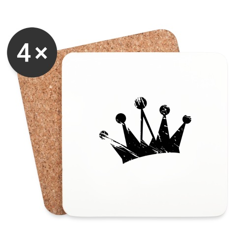 Faded crown - Coasters (set of 4)
