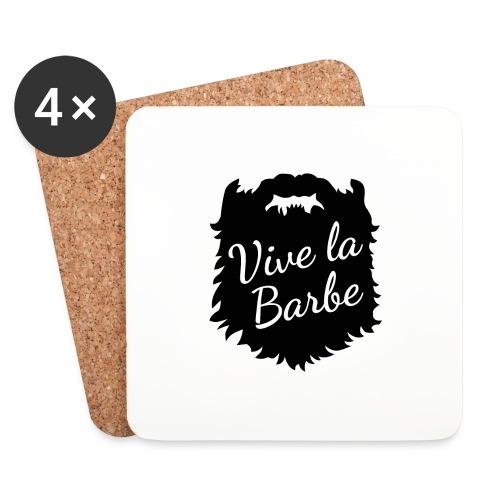 T-Shirt Barbe : Vive la Barbe - QueBellissimo - Dessous de verre (lot de 4)