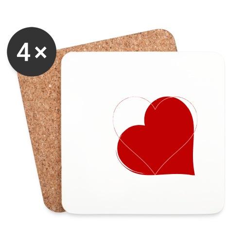 Kærlighed - Glasbrikker (sæt med 4 stk.)