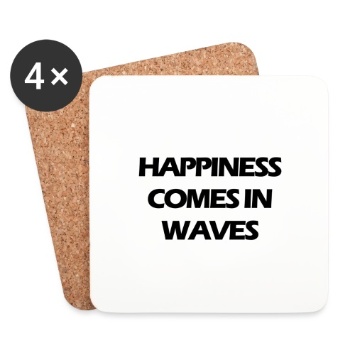 Happiness comes in waves - Underlägg (4-pack)
