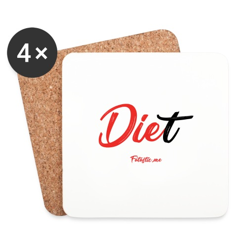 Diet by Fatastic.me - Coasters (set of 4)