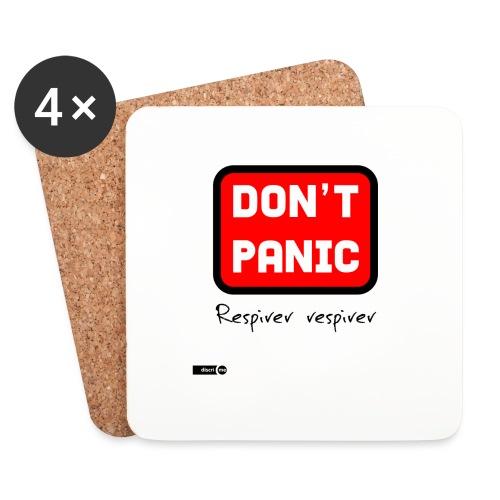 don't panic, respirer - Dessous de verre (lot de 4)