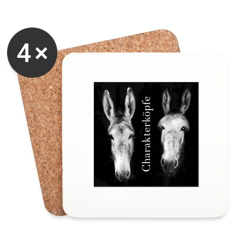 Eselköpfe_Charakterköpfe - Untersetzer (4er-Set)