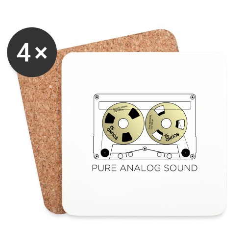 Reel gold cassette white - Coasters (set of 4)
