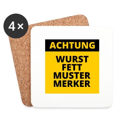 Achtung - Wurstfett! - Posavasos (juego de 4)