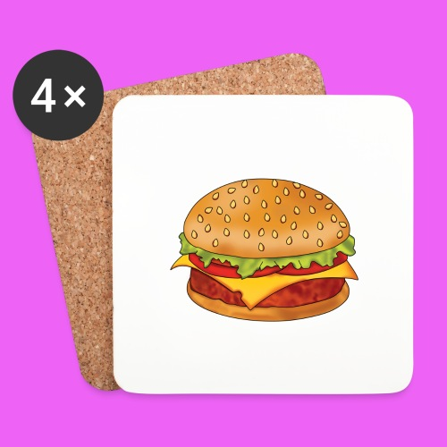 hamburguesa - Posavasos (juego de 4)