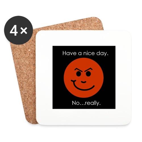 Have a nice day - Glasbrikker (sæt med 4 stk.)