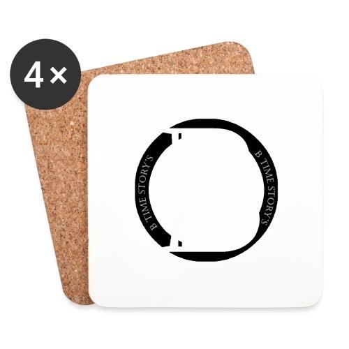 logo zwart - Onderzetters (4 stuks)