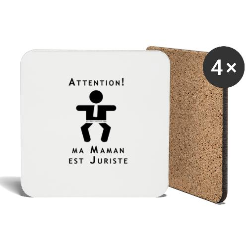 Attention Maman juriste ! - Dessous de verre (lot de 4)