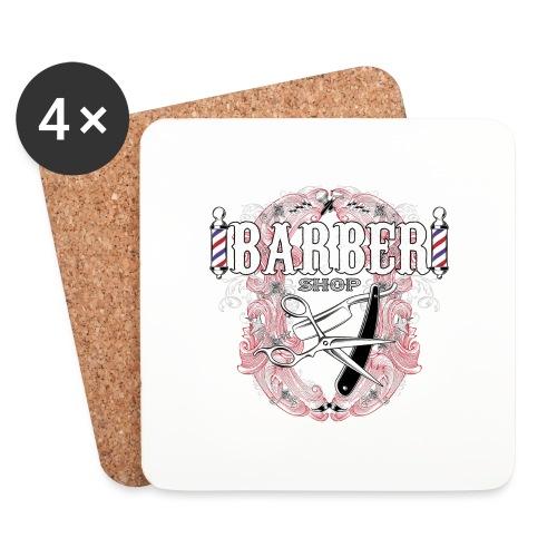 Barber Shop_03 - Sottobicchieri (set da 4 pezzi)