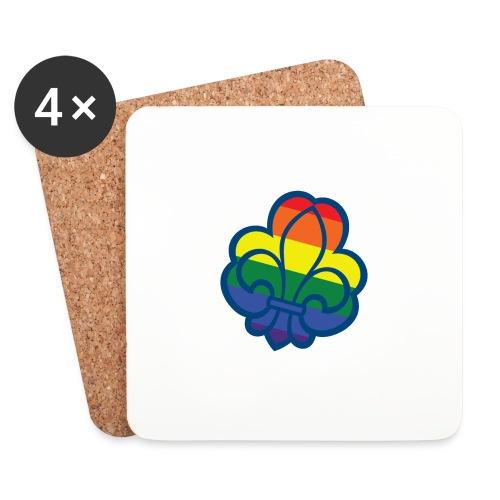Regnbuespejder tilted hvid - Glasbrikker (sæt med 4 stk.)