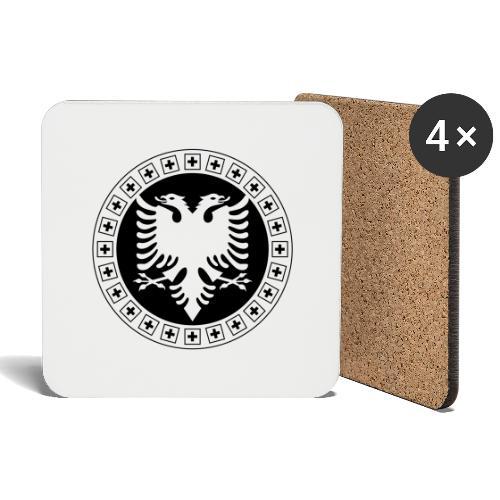 Albanien Schweiz Shirt - Untersetzer (4er-Set)