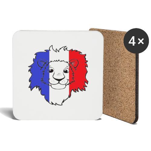 Lion France - Dessous de verre (lot de 4)