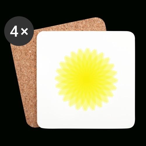 Blume LSD optik - Untersetzer (4er-Set)
