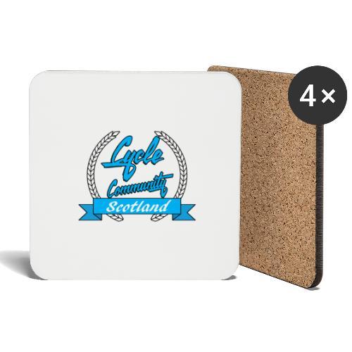 cycle community scotland blue logo tee - Coasters (set of 4)