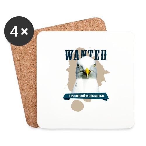 WANTED - Fischbrötchendieb - Untersetzer (4er-Set)
