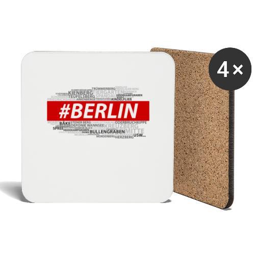 Hashtag Berlin - Untersetzer (4er-Set)