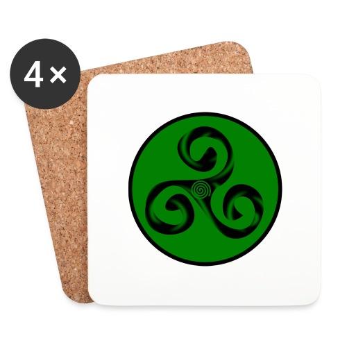 Triskel and Spiral - Posavasos (juego de 4)