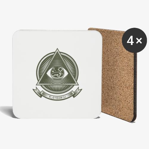 Illuminati Flat Earth - Coasters (set of 4)
