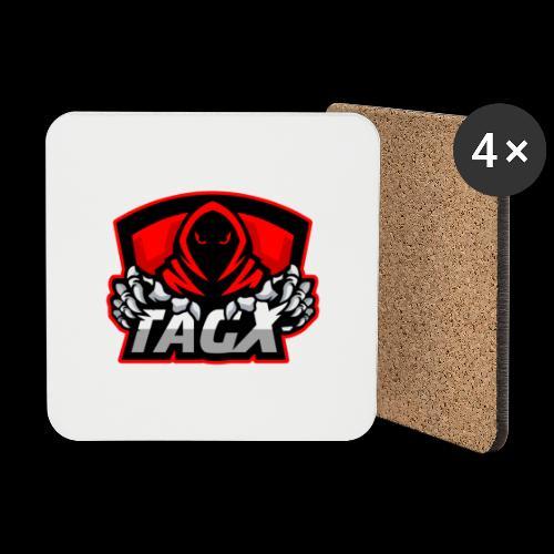 TagX Logo with red borders - Lasinalustat (4 kpl:n setti)