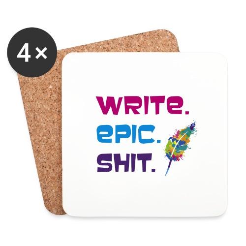 Write.Epic.Shit by www.Schreiben-im-Flow.de - Untersetzer (4er-Set)