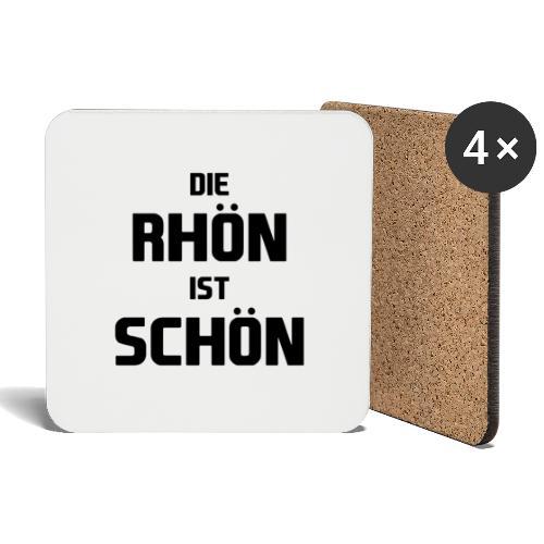 Die Rhön ist Schön! (Schwarz) - Untersetzer (4er-Set)