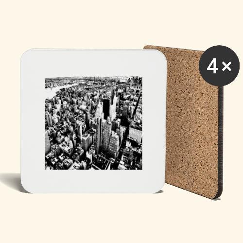 Manhattan in bianco e nero - Sottobicchieri (set da 4 pezzi)
