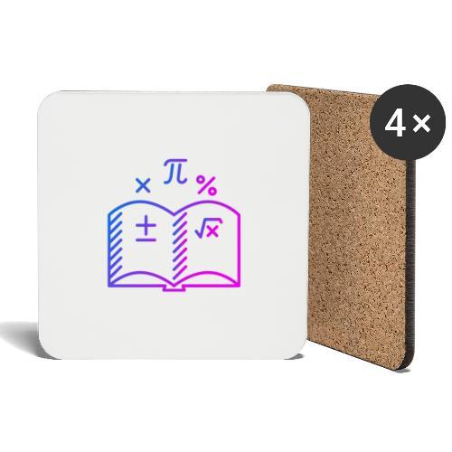 Wiskunde Boek - Onderzetters (4 stuks)