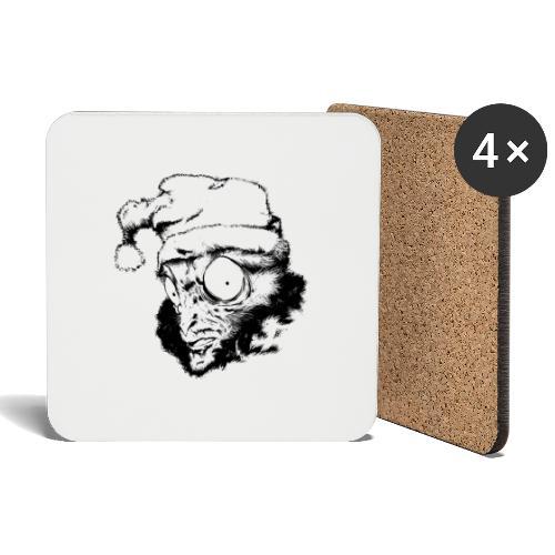 Monkey Christmas - Dessous de verre (lot de 4)