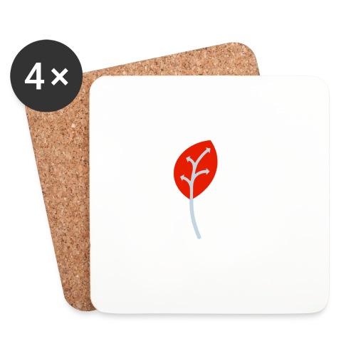Adveris rosso - Sottobicchieri (set da 4 pezzi)