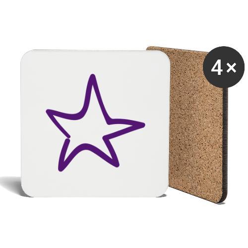 Star Outline Pixellamb - Untersetzer (4er-Set)