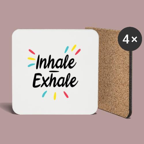 Inhale exhale yoga namaste - Dessous de verre (lot de 4)