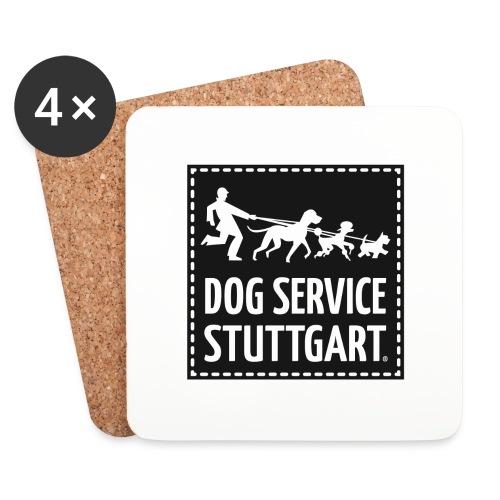 Dog Service Stuttgart schwarz - Untersetzer (4er-Set)