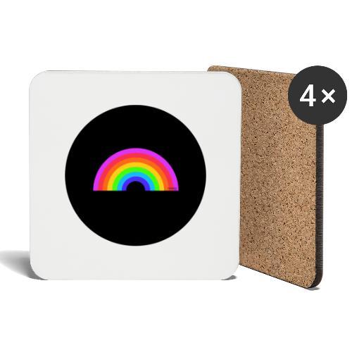 Rainbow on black - Lasinalustat (4 kpl:n setti)