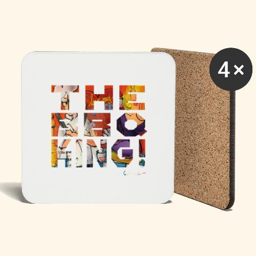 THE BBQ KING T SHIRTS TEKST - Onderzetters (4 stuks)