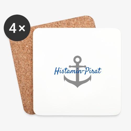 Histamin-Pirat mit Anker | Histaminintoleranz - Untersetzer (4er-Set)