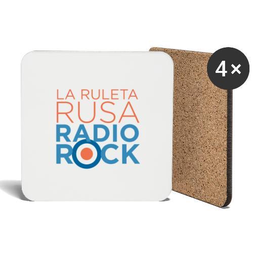 La Ruleta Rusa Radio Rock. Portrait Primary. - Posavasos (juego de 4)