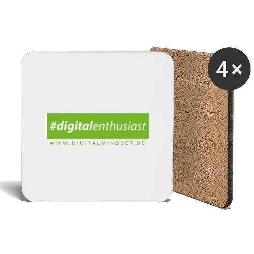 #digitalenthusiast - Untersetzer (4er-Set)