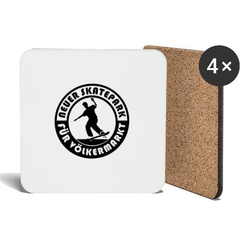 Neuer Skatepark für Völkermarkt Logo - Untersetzer (4er-Set)