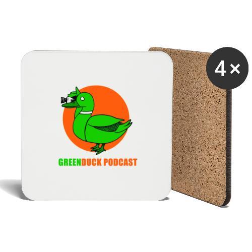 Greenduck Podcast Logo - Glasbrikker (sæt med 4 stk.)