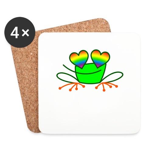 Pride Frog in Love - Coasters (set of 4)