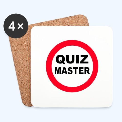 Quiz Master Stop Sign - Coasters (set of 4)