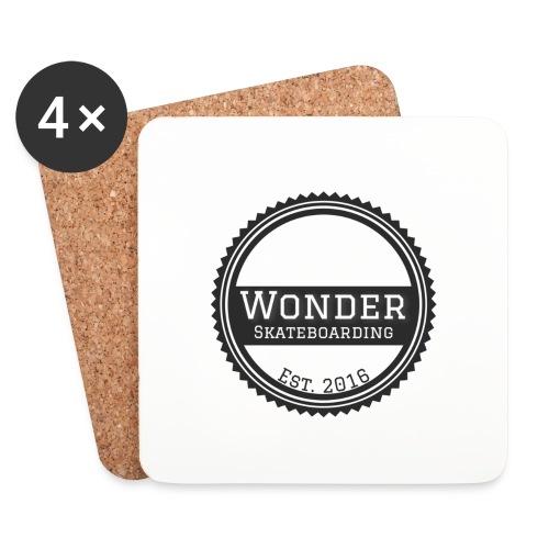 Wonder unisex-shirt round logo - Glasbrikker (sæt med 4 stk.)